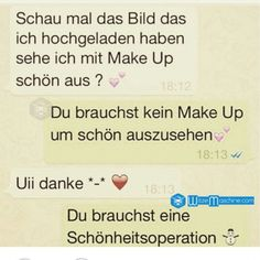 Lustige WhatsApp Bilder und Chat Fails 120 - Hässlich - Make-Up
