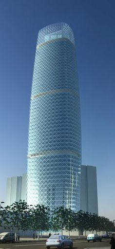 Jing`An Infinity Tower Shanghai, China by Tengbom Architects :: 61 floors, height 265m