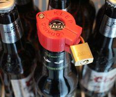 Someone keep stealing your craft brew? DIY beer bottle lock....HAHAHAHAHA