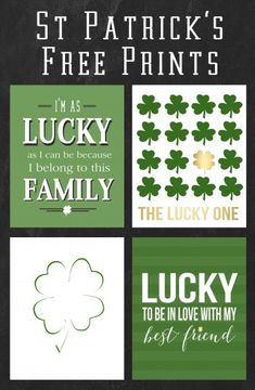 Cute St Patrick's prints for your home that are totally FREE - 5 in total