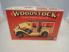 WOODSTOCK 1930 MODEL A FORD WOODY REVELL 1:25 SCALE VINTAGE PLASTIC MODEL KIT #Revell