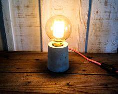 Vintage concrete lamp
