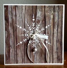 """Die schlichte Karte: """"Dazzling Snowflake"""" - neue Stanze von Memory Box"""