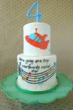 Custom Cakes by Ambrosial Affections - Little Einsteins birthday cake. Cute for boy or girl.