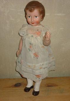 Poupee-ancienne-de-Gege-40-cm-034-LISETTE-034-circa-1930-40-tbe Old Dolls, Antique Dolls, Vintage Dolls, Creepy Dolls, Collector Dolls, Vintage Photos, Ebay, Buffet, Shop
