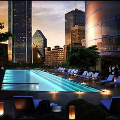 Sunset is the most amazing time in the Omni Dallas Pool. #omnihotels #dallas #infinitypool