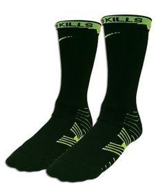Lacrosse Unlimited's Nike Vapor sock in black and VOLT. Match with Black and volt low or mid top cleats to play in style. Football Socks, Basketball Socks, Nike Vapor, Designer Socks, Sport Wear, Lacrosse, Athletics, Crew Socks, Cleats