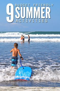 On a budget, but looking for frugal things to do with your family? Here are 9 budget friendly summer activities that your family will love!