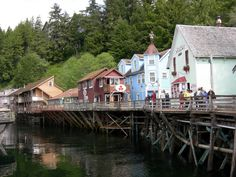 Creek Street in Ketchikan, Alaska