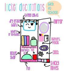 Locker Decor Plan | DIY Locker Organization for School Girls