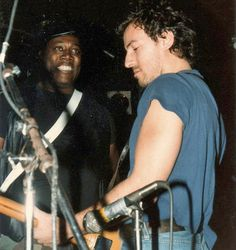 Bruce Springsteen,,,,with friend..