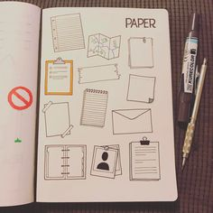 Paper doodles for bullet journaling is a great way to add a notetaking area to your bujo spread Bullet Journal Font, Journal Fonts, Journal Pages, Journaling, Note Doodles, Bujo Doodles, Banner Doodle, Thought Bubbles, Sketch Notes