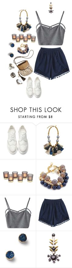 """""""Silence Before the Storm"""" by kittykitty ❤ liked on Polyvore featuring Lizzie Fortunato, David Aubrey, WithChic, TOMS, Child Of Wild and H&M"""