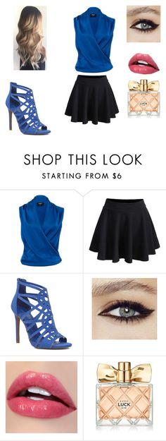 """""""Dress to impress"""" by mcderr ❤ liked on Polyvore featuring Paule Ka, WithChic, Nine West and Avon"""
