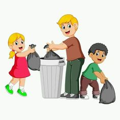 Father and his kids to throw away garbage Vector Image Art Drawings For Kids, Drawing For Kids, Murals For Kids, Art For Kids, Clean India Posters, Save Earth Drawing, Animals Name In English, Father Images, Flashcards For Kids