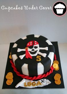 Another great cake idea for your Pirate themed birthay party