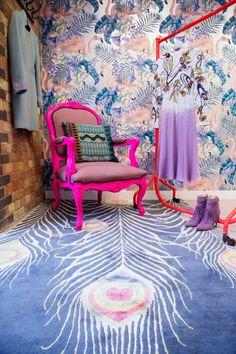 Matthew Williamson London Showroom - Flamingo Changing Room