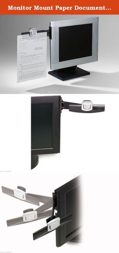 Monitor Mount Paper Document Holder Swing Arm Attach Clip Office Note. Features Command Adhesive to hold securely yet remove cleanly.Lets you slide in up to 5 sheets one-handed or securely clip up to 30 sheets.Sheet capacity: 30 sheets. Holds up to 30 sheetsUses Command (TM) Adhesive to attachCompatible with all CRT monitors and most flat panel monitorsSwings out of way when not in useBlackHolds up to 30 sheetsUses Command (TM) Adhesive to attachDimensions: 11.5 x 6.2 x 3 inches ; 3.8…