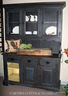 Yes, yes, yes. Vintage Hutch with Chicken Wire Doors