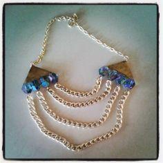 #necklace #chain #cristales #tornasol #ootd #maxicollar #jewelry #accesorios #handmade #diseñomexicano #trend #scarabeo #tamaraalmaraz