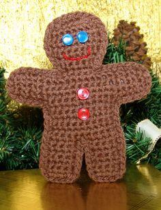 Gingerbread Man Ornament - Free Pattern | Yarnspirations