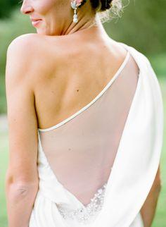 #Wedding Dress with #Illusion Back | Photography: Edward Osborn | See More: http://stylemepretty.com/2013/09/30/scottish-castle-wedding-from-edward-osborn