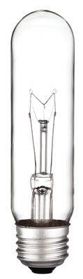 60 Watt T10 Incandescent Vibration Resistant Light Bulb, 2700K Clear E26 (Medium) Base, 130 Volt, Box