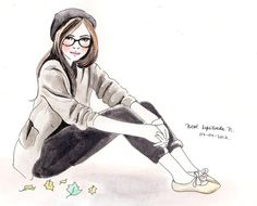 cute drawing of cute girl <3