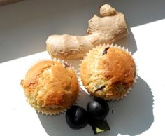 Plum & ginger muffins!
