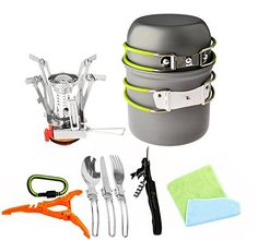I just saw this and had to have it 12pcs Camping Cookware Stove Carabiner Canister Stand Tripod Folding Spork Set Bisgear(TM) Outdoor Camping Hiking Backpacking Non-stick Cooking Non-stick Picnic Knife Spoon Wine Opener you can {read more about it here https://www.amazon.com/Cookware-Carabiner-Bisgear-Backpacking-Non-stick/dp/B01HPA40L2%3FSubscriptionId%3DAKIAIDRVQGD77IOHEZXQ%26tag%3Dbridgerstore-20%26linkCode%3Dxm2%26camp%3D2025%26creative%3D165953%26creativeASIN%3DB01HPA40L