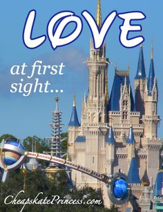 Disney World's Cinderella Castle...Love at First Sight!