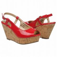 SALE - Volatile Becca Wedge Heels Womens Red Leather - Was $49.00 - SAVE $2.00. BUY Now - ONLY $46.55.