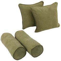 Blazing Needles Blazing Needles Solid Twill Throw Pillows 4 Piece Set Fabric: Mojito Lime