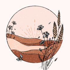 Boho Wall Decor by terracottanoon on Etsy Art Inspo, Painting Inspiration, Art Minimaliste, Art Et Illustration, Minimalist Art, Aesthetic Art, Oeuvre D'art, Cute Wallpapers, Art Drawings