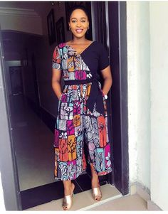 Rock the Latest Ankara Jumpsuit Styles these ankara jumpsuit styles and designs are the classiest in the fashion world today. try these Latest Ankara Jumpsuit Styles 2018 African Inspired Fashion, African Print Fashion, Africa Fashion, African Fashion Dresses, Fashion Outfits, African Prints, African Print Jumpsuit, Ankara Jumpsuit, Ankara Dress