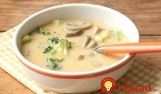 Homemade Cheddar and Mushroom Soup – Everyday Food with Sarah Carey Dinner Soup – Dinner Recipes Dutch Recipes, Soup Recipes, Cooking Recipes, Broccoli Cheese Soup, Fresh Broccoli, Broccoli Cheddar, Mushroom Soup, Mushroom Recipes, Everyday Food