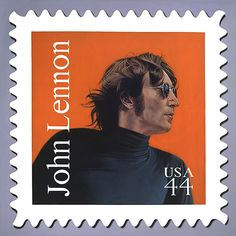 John Lennon USA postage stamp: Wanted to be a US citizen and almost made it. John Lennon And Yoko, Imagine John Lennon, Les Beatles, John Lennon Beatles, Going Postal, The Fab Four, Stamp Collecting, Mail Art, Poster