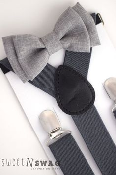 Newborn-Adult sizes. Light Grey Chambray with Dark Grey Suspenders. Sweet N Swag on Etsy