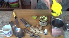 Boisson chaude citron, gingembre, cannelle, miel
