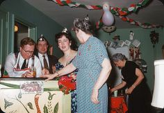 New Year's Party, 1950s by ElectroSpark, via Flickr