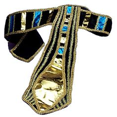 Our Egyptian Belt has the perfect color combination of gold, blue and black to compliment nearly every Egyptian costume.