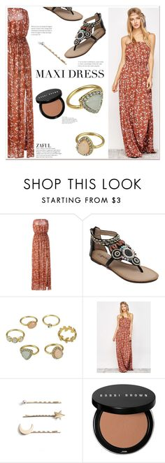 """""""Maxi Dress"""" by mycherryblossom ❤ liked on Polyvore featuring Tasha and Bobbi Brown Cosmetics"""