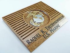MARINE COIN HOLDER Display Custom Personalized Military