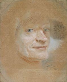 """amare-habeo: """" Maurice Quentin de La Tour (French, 1704 – 1788) Portrait de l'artiste, pastel, 18-th century siècle """""""