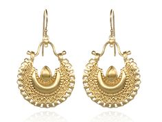 Gold Belly Dance Crescent Earrings by Satya