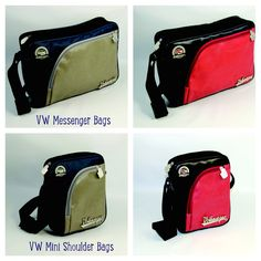 Brand New VW Shoulder Bags with Tire Tread edging and a unique vintage look. Available at www.coolvwstuff.com