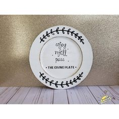 The Giving Plate Giving Plate, Gifts Under 10, Maybe One Day, Secondary Color, Handmade Items, Handmade Gifts, Text Color, Marketing And Advertising, Decorative Plates