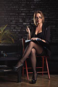 secretary sexy glasses bound