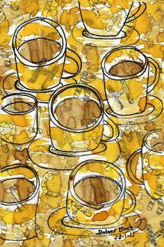 Dolors Buch.  cafè per vuit.  22-1-15.  pintat cafè, colorant 29-1-15.
