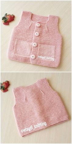 Very Stylish Illustrated Knitted Baby Vest Baby Knitting Patterns, Lace Knitting, Knit Crochet, Baby Girl Cardigans, Knit Baby Sweaters, Girls Sweaters, Filet Crochet Charts, Baby Presents, Crochet Designs
